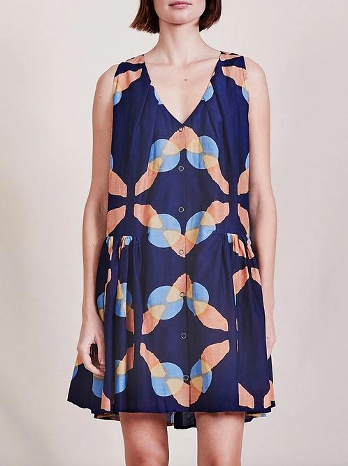 Apiece Apart, Rosarito Mini Dress, Shibori geo floral