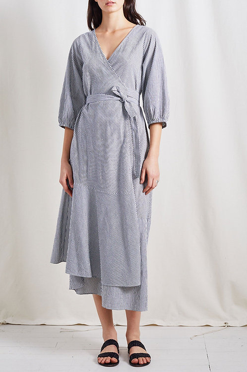 Apiece Apart Sierra Dress, blue stripe