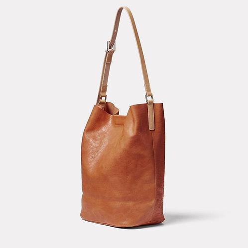 Ally Capellino, Lloyd Calvert Leather Bucket Bag, Tan