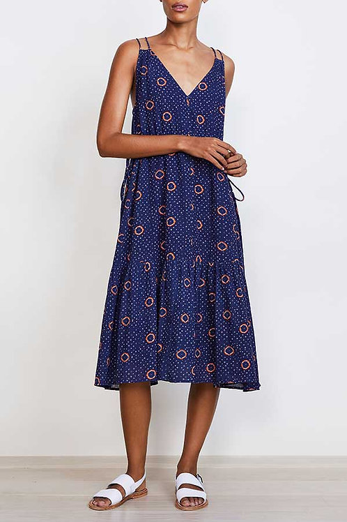 Apiece Apart, Daphne Dress, Navy Shibori Dot