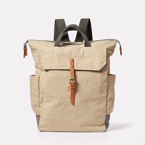 Ally Capellino, Fin Waxed Cotton Backpack, Putty