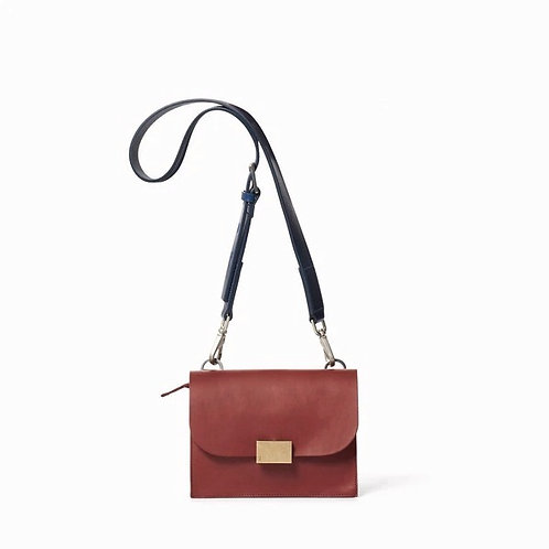 Ally Capellino Lockie Crossbody, rust