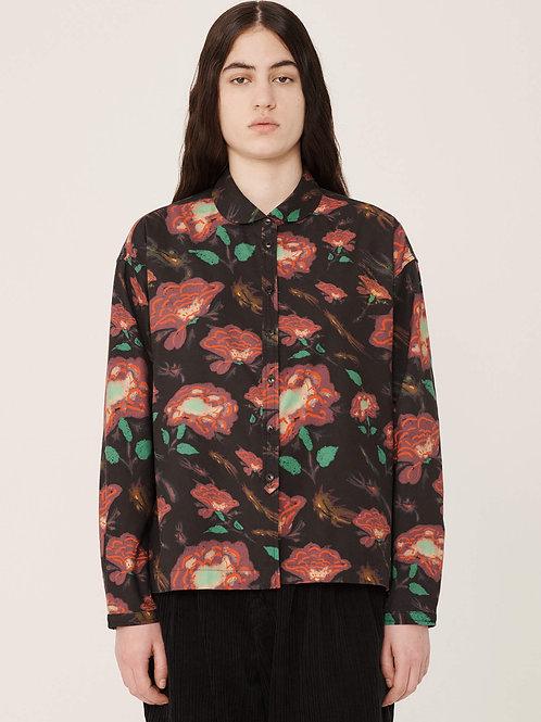 YMC Marianne Rayon Cotton Floral Print Shirt, multi