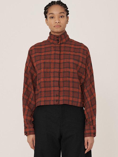 YMC Polly Wool Check Shirt, red/black