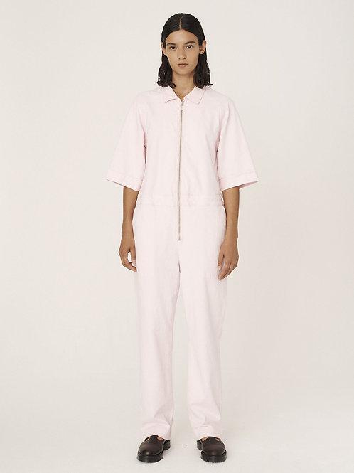 YMC, Harvest Cotton Paisley Jacquard Jumpsuit, Pink