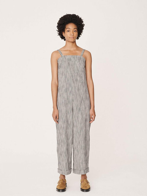 YMC, Lodge Cotton Linen Striped Jumpsuit