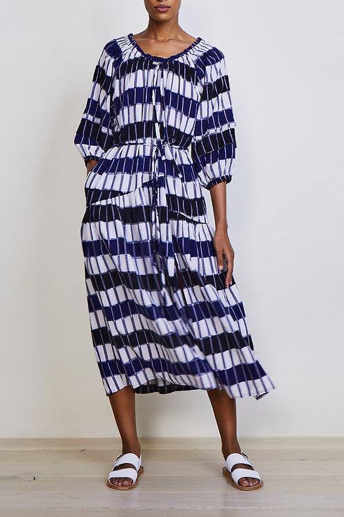 APIECE APART, Chemlali Scoop Neck Dress, Basket Ikat