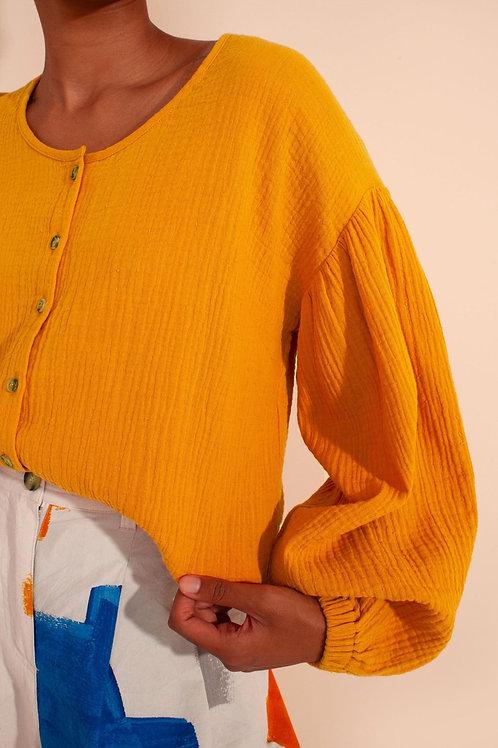 LF Markey, Fletcher Shirt, Saffron.