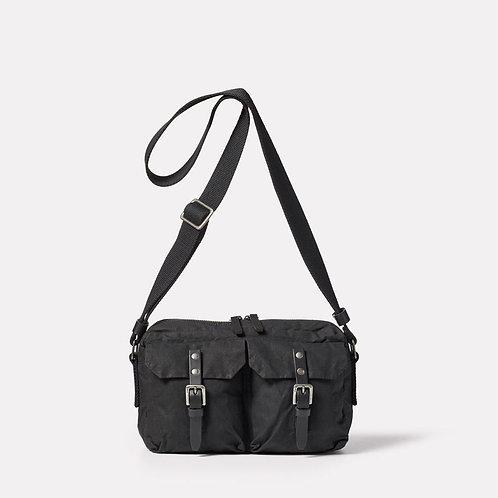 Ally Capellino, Franco Waxed Cotton Crossbody Bag, Black