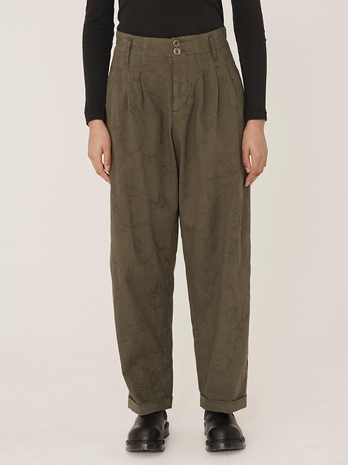YMC Keaton Jacquard Quilt Trousers, olive