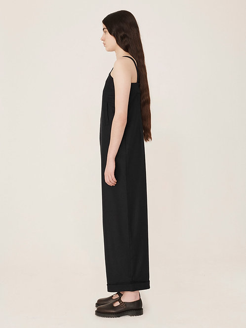 YMC Lodge Washed Wool Jumpsuit, navy