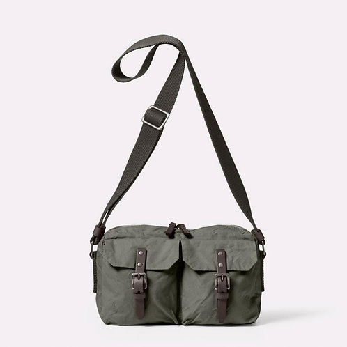 Ally Capellino Franco Waxed Cotton Crossbody Bag, Army Green