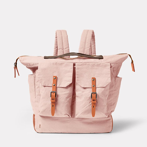 Ally Capellino Frank Large Waxed Cotton Backpack, Light Pink