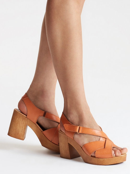 Penelope Chilvers, Charlie Leather Sandal, Tan