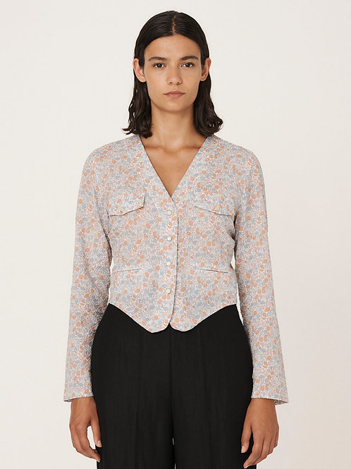YMC, Axel Cotton Floral Seersucker Shirt, Multi