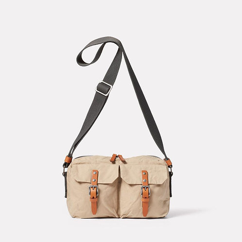 Ally Capellino, Franco Waxed Cotton Crossbody Bag, Putty