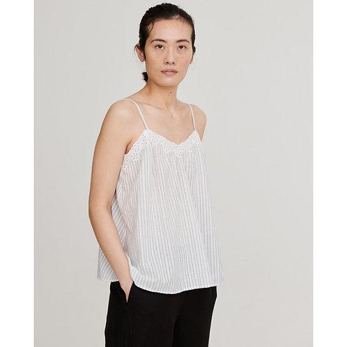 Skall Studio, Pisa Top, white/grey stripe