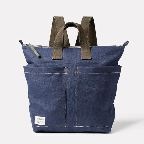 Ally Capellino X Margent Farm Hemp Backpack, Navy