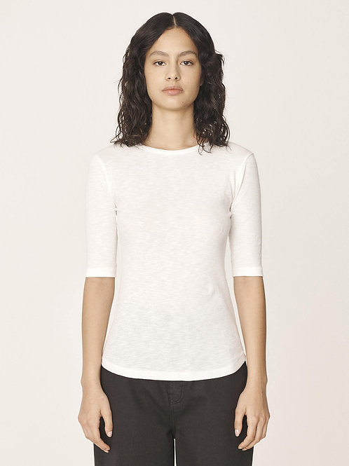 YMC, Charlotte Organic Rib Cotton Slub T-Shirt, White