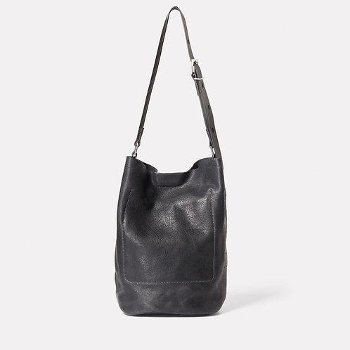 Ally Capellino, Lloyd Calvert Leather Bucket Bag, Black