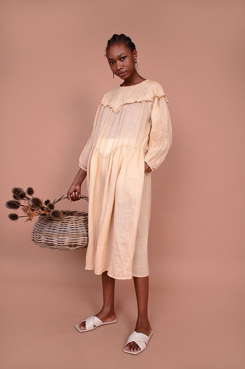 Meadpows, Camellia Dress, Oatmeal