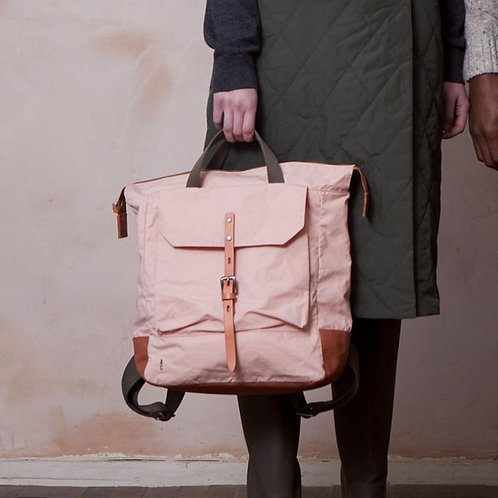 Ally Capellino Frances Waxed Cotton Backpack, Light Pink