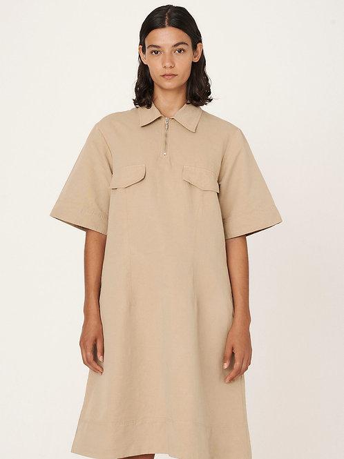 YMC, Harvest Cotton Linen Dress, sand
