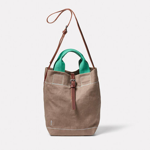 Ally Capellino X Margent Farm Bob Hemp Bucket Bag, Khaki