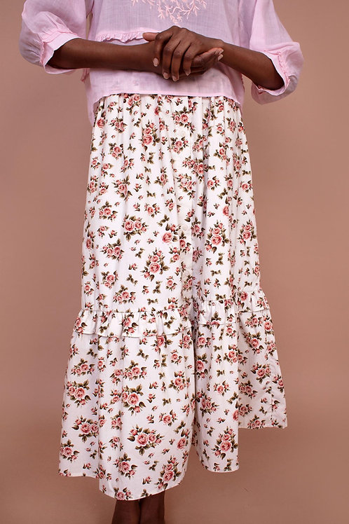 Meadows, Magnolia Skirt, Roses