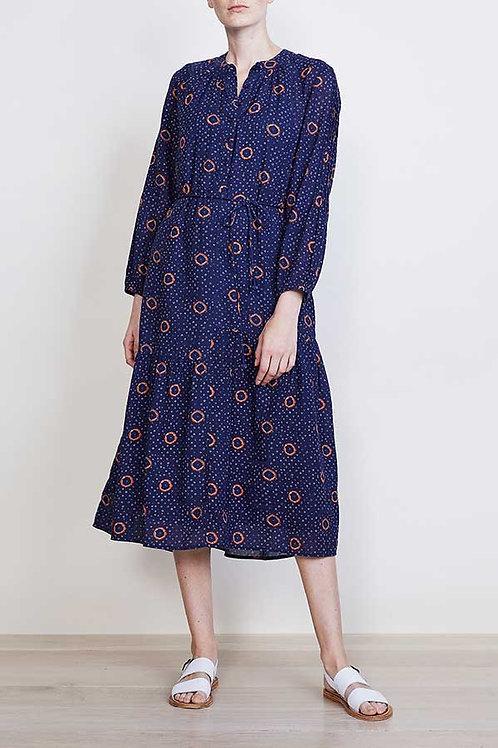 Apiece Apart, Esperance Dress, Navy Shibori Dot