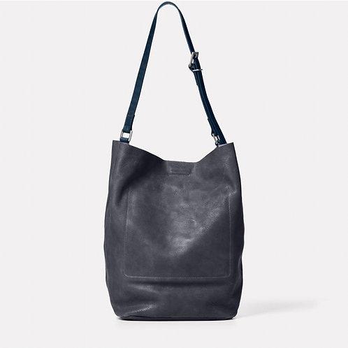 Ally Capellino Lloyd Calvert Leather Bucket Bag in Dark Skies
