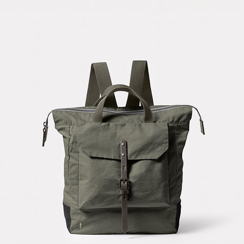 Ally Capellino Frances Waxed Cotton Backpack,  Army Green