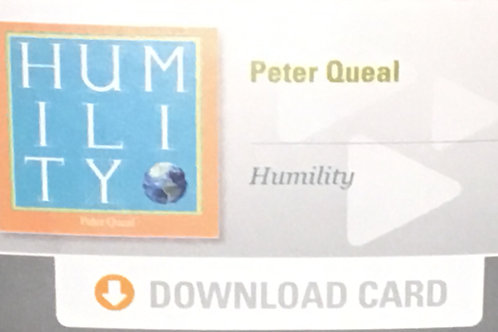 """""""humility"""" Download Card"""