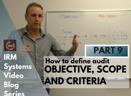 What is meant by the Audit Objective, Scope and Criteria?