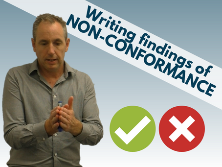 How to communicate an audit finding of NON-CONFORMANCE