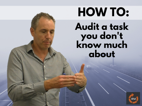 How To Audit an Operational Task You Don't Know Much About