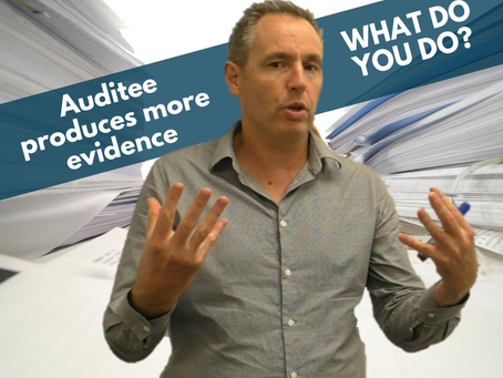 What to do if an auditee produces additional evidence after the audit