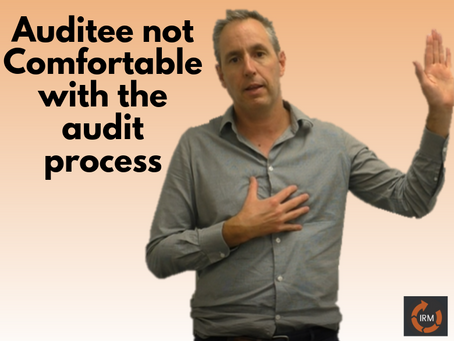 Steps to take if the Auditee is uncomfortable with audit process.