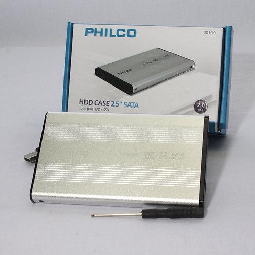Cofre Disco Duro Philco 2.5'' Usb 2.0 Sata Hdd/Ssd