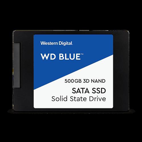 Disco Wd Blue Sata Ssd De 500gb De 2,5 Pulgadas/7 Mm Con Carcasa