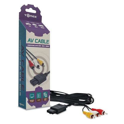 Cable AV Tomee para GameCube N64 SNES