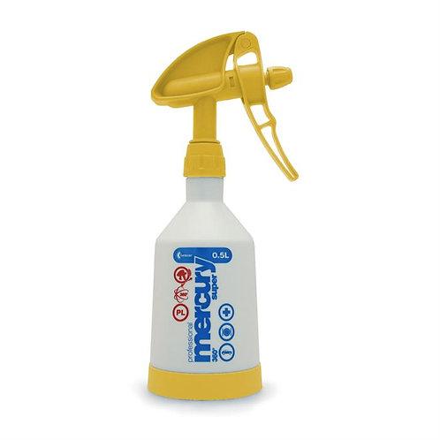 Kwazar Mercury Pro+ Double Action Trigger Bottle Yellow 0.5 Litre