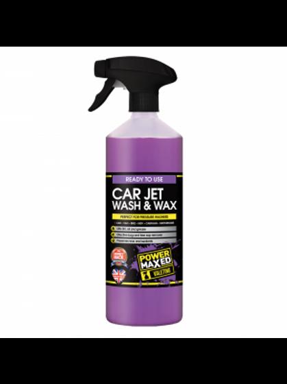 Power Maxed Car Jet Wash & Wax 1 Litre