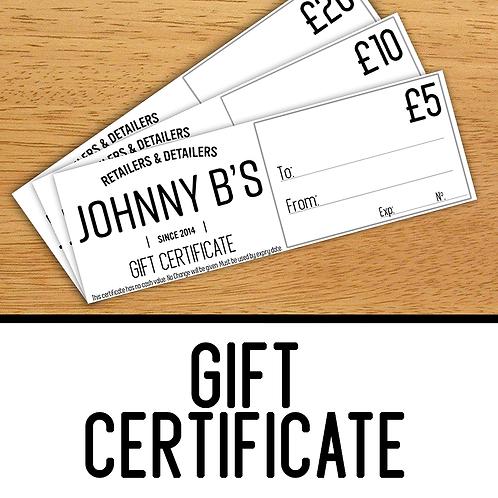 Johnny B's Gift Certificate