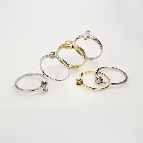 Anéis Coleção Solitarios