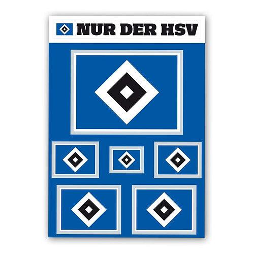 HSV Aufkleberkarte Set Raute