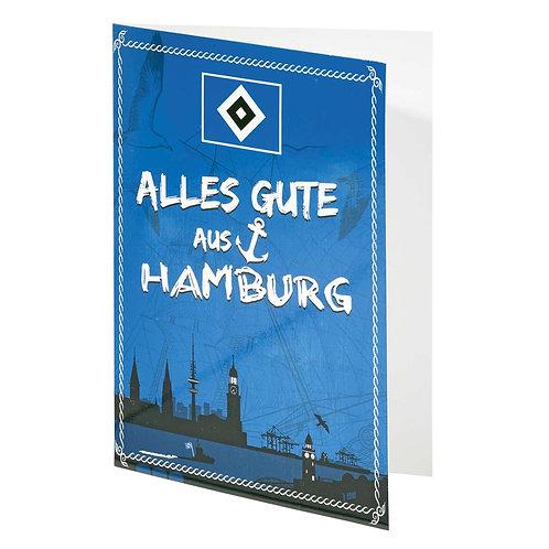 HSV Grußkarte Hamburg