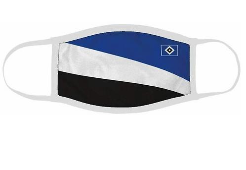 HSV Maske blau weiß schwarz Raute Gesichtsmaske