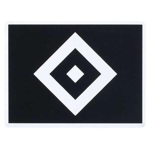 HSV Aufkleber Raute transparent schwarz