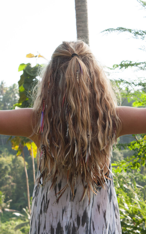 Blonde Fairy Feather Hair Extension